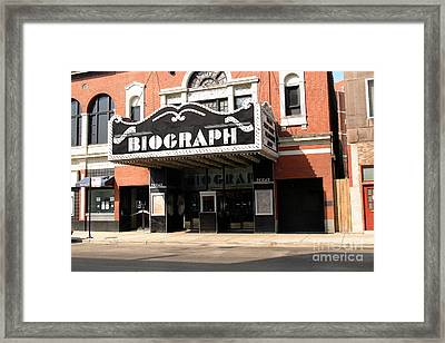 Biograph Theatre John Dillinger's Last Night Out Framed Print by Linda Matlow