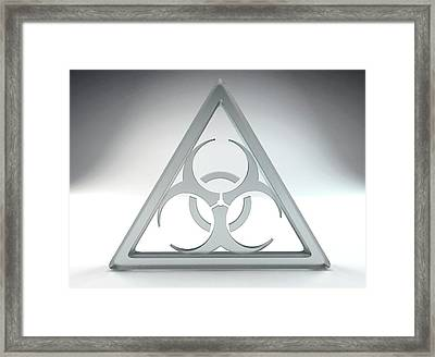 Biohazard Sign Framed Print by Tim Vernon