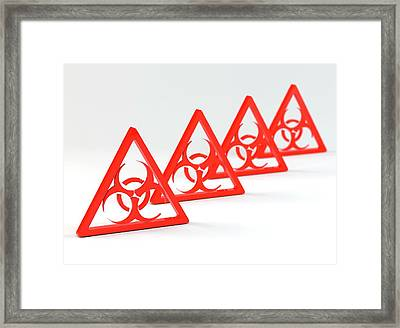 Biohazard Signs Framed Print by Tim Vernon