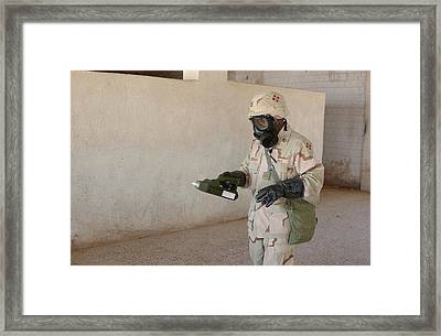 Biological Weapon Screening Framed Print by Hhc 4th Infantry Division