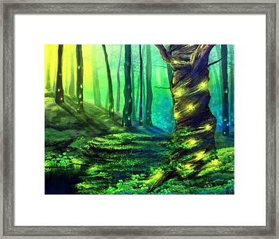 Bioluminescence Framed Print by Erin Scott