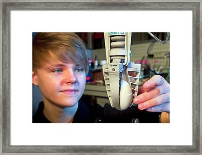 Bionic Tripod Framed Print by Philippe Psaila