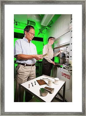 Bioplastics Research Framed Print by Peggy Greb/us Department Of Agriculture