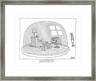 Biosphere 3 Framed Print by Jack Ziegler