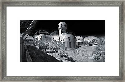 Biosphere2 - Black And White Framed Print by Gregory Dyer