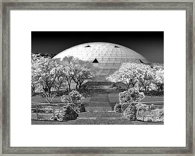 Biosphere2 - Dome Panorama Framed Print by Gregory Dyer