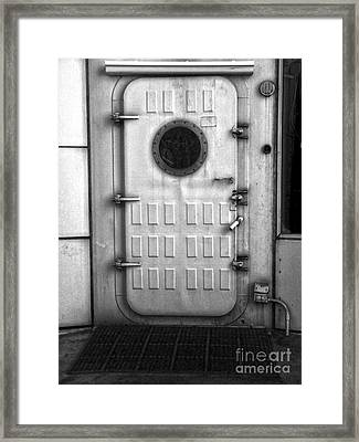 Biosphere2 - Door Framed Print by Gregory Dyer