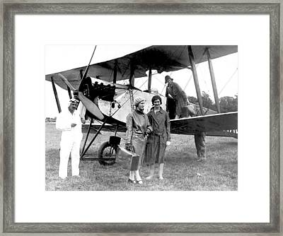 Biplane Passenger Service Framed Print by Underwood Archives