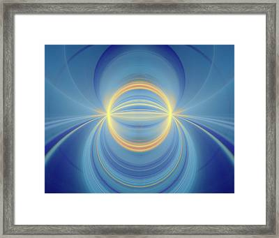 Bipolar Conceptual Illustration Framed Print by David Parker