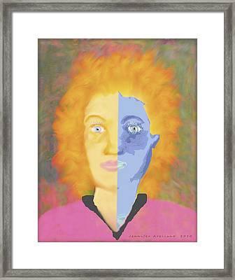 Bipolar Framed Print by Jennifer Lesher - Arellano