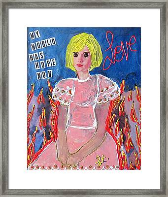 Framed Print featuring the painting Bipolar by Lisa Piper