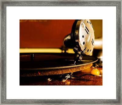 Birch Brothers Portable Phonograph Framed Print by Jon Woodhams
