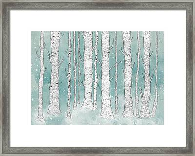 Birch Forest Framed Print by Randoms Print