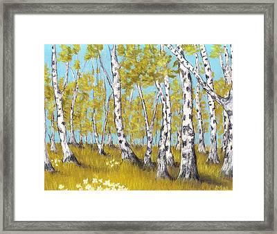 Birch Grove Framed Print