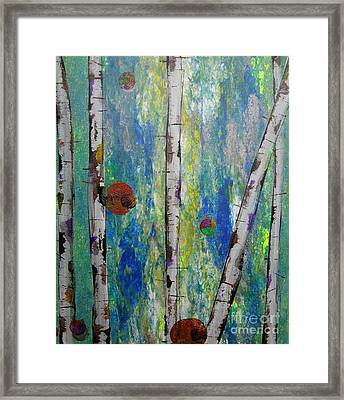 Birch - Lt. Green 4 Framed Print