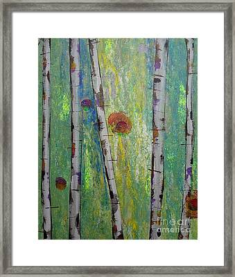 Birch - Lt. Green 5 Framed Print