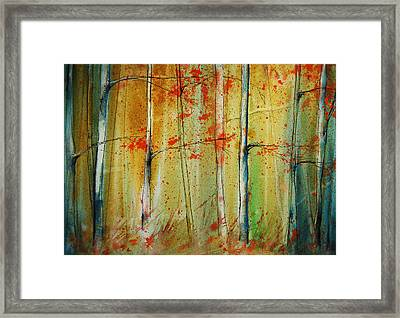 Birch Tree Forest I Framed Print by Jani Freimann
