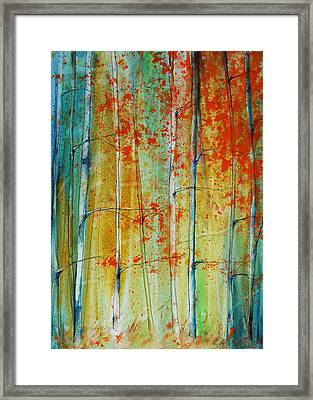 Birch Tree Forest Framed Print