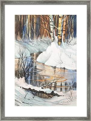 Birch Trio II Framed Print by Teresa Ascone