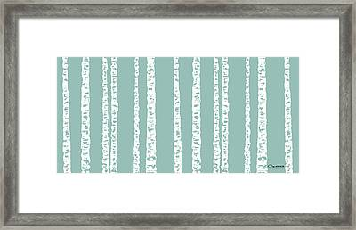 Birches Di Framed Print