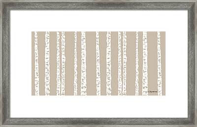 Birches Diii Framed Print by Carmen Guedez