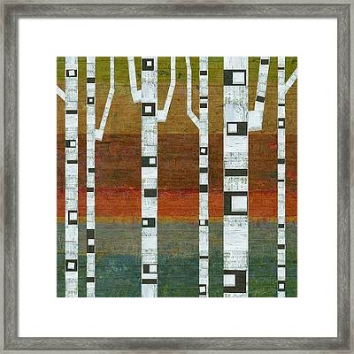 Birches Framed Print by Michelle Calkins