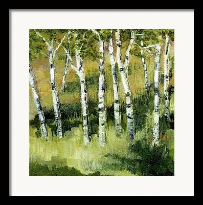 Birch Bark Framed Prints