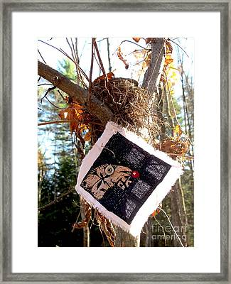 Bird And Berry Framed Print by Linda Marcille
