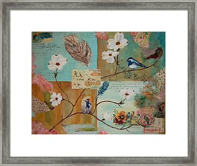 Bird And Feather Framed Print