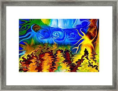 Bird Bath Framed Print by Omaste Witkowski
