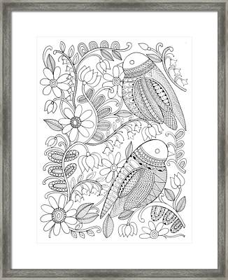 Bird Birds 1 Framed Print by Neeti Goswami