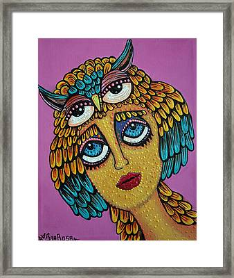 Bird Brain Framed Print