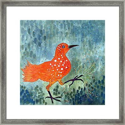 Bird Brain Rain Dance Framed Print