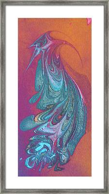 Framed Print featuring the painting Bird Dance by Mike Breau