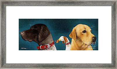 Bird Dogs... Framed Print by Will Bullas