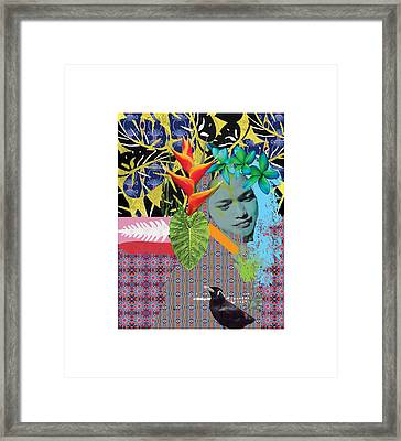 Bird Dreaming Of A Woman Framed Print