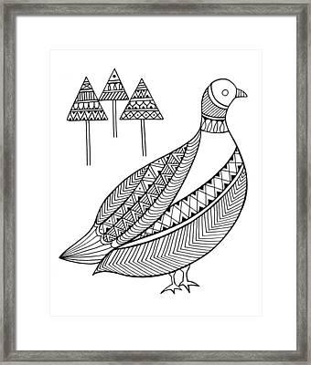 Bird Duck Framed Print
