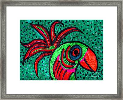 Bird Elegance Framed Print