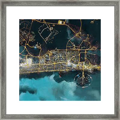 Bird Eye View - Dubai Framed Print by Corporate Art Task Force