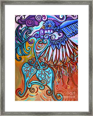 Bird Heart Iv Framed Print by Genevieve Esson
