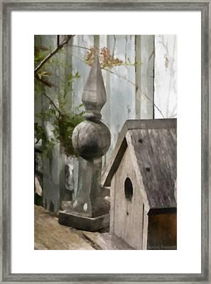 Bird House Garden Art Framed Print by Sandra Foster