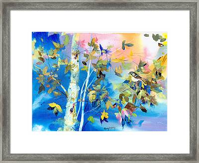 Bird In Blue Framed Print