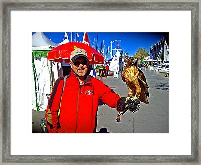 Bird In Hand Framed Print by Joseph Coulombe