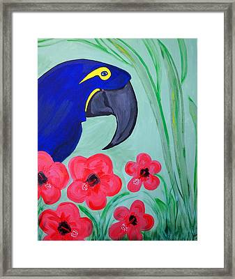 Framed Print featuring the painting Bird In Paradise   by Nora Shepley