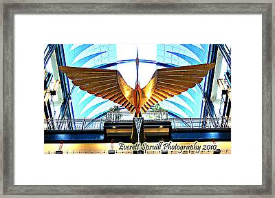 Bird In The Building Framed Print