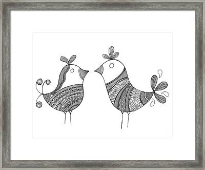 Bird Love Birds Framed Print
