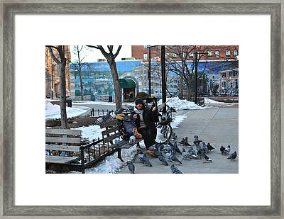 Framed Print featuring the photograph Bird Man by Paul Noble