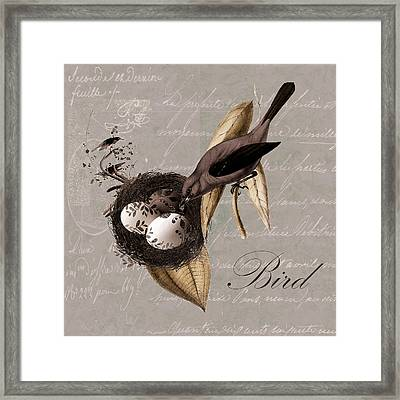 Bird Nest - 02v23c2b Framed Print