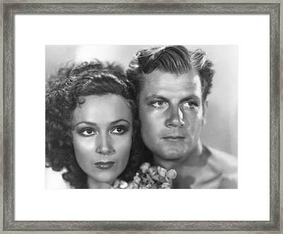 Bird Of Paradise, From Left Dolores Del Framed Print by Everett