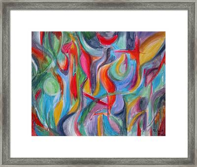 Bird Of Paradise Original Painting - Print For Sale Framed Print